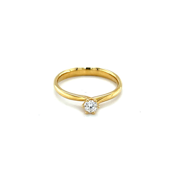 Solitaire ring 0,21ct