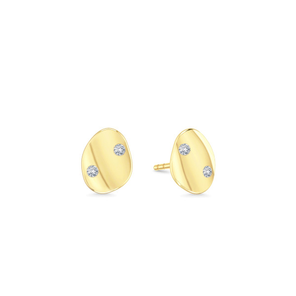 Liquid Mini earstuds- white