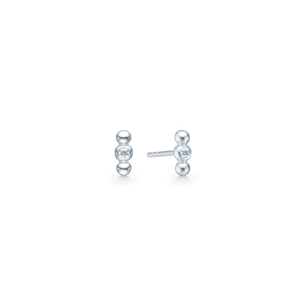 Bubbly Earstuds - Rhodium