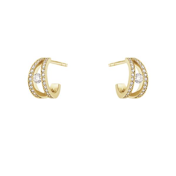 HALO øreringe – 18 kt. guld med brillantslebne diamanter