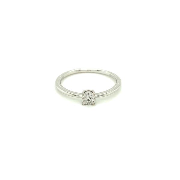 Illusion diamant ring 0.06ct TW/SI