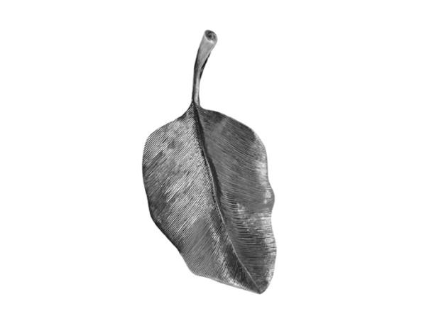 Leaves vedhæng rundt oxyderet 4cm