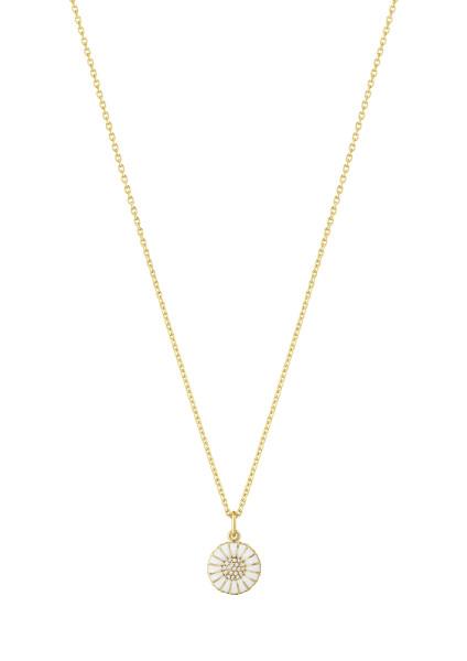 DAISY vedhæng - forgyldt sterlingsølv med diamanter