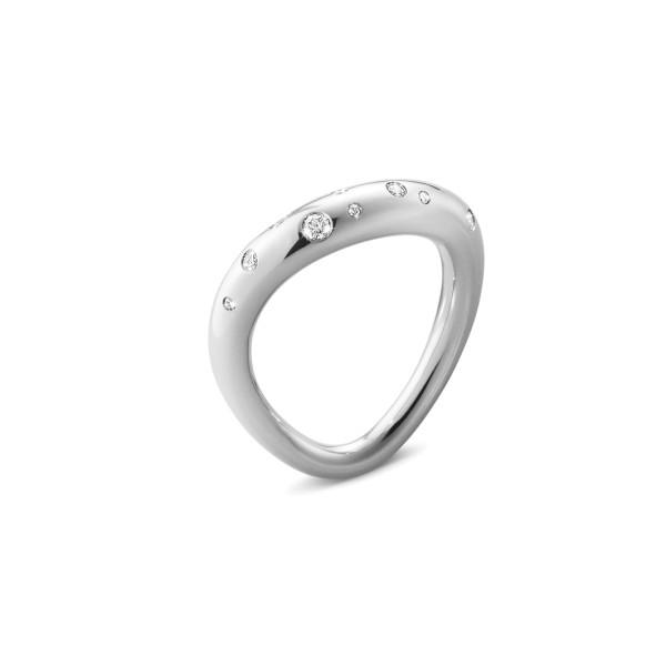 OFFSPRING ring - sterlingsølv med diamanter.