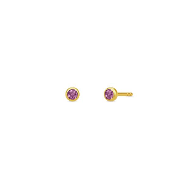 Finesse øreringe - Rhodolite