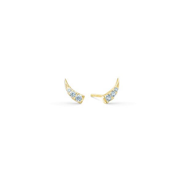 Glace Earstuds - Gold/White