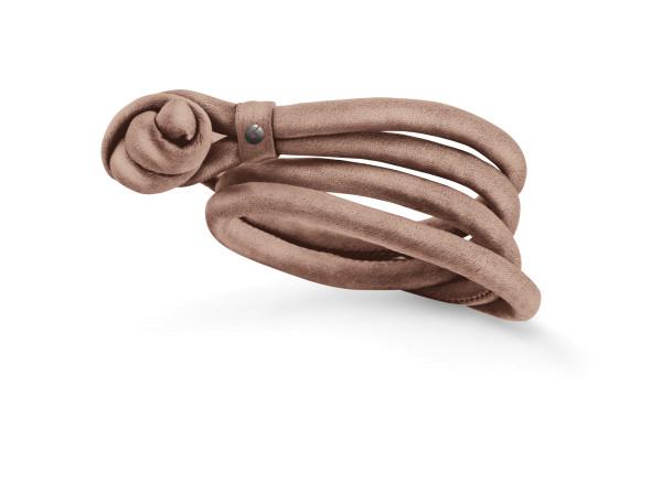 Design armbånd silke rosa