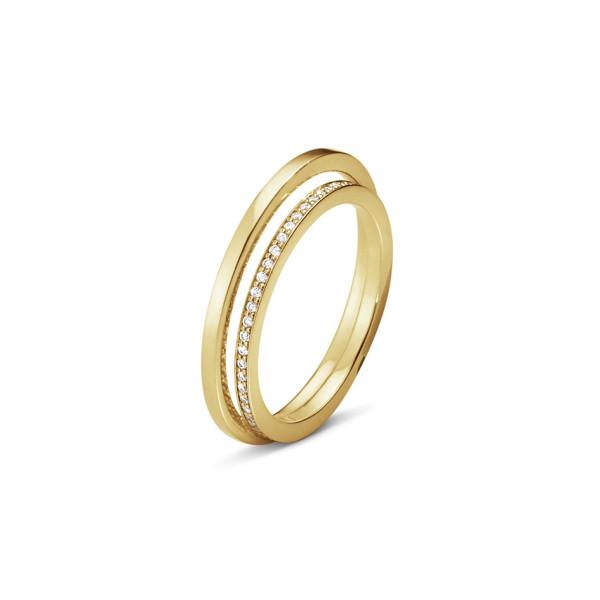 HALO ring – 18 kt. guld med brillantslebne diamanter