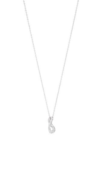 INFINITY vedhæng - sterlingsølv med brillantslebne diamanter, lille