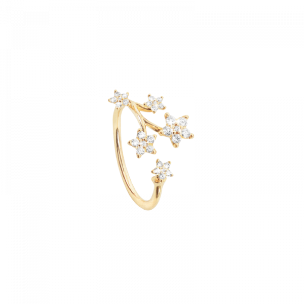 Shooting stars ring 0,27ct