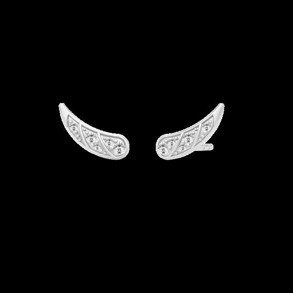 Peacock øreringe / rhodium