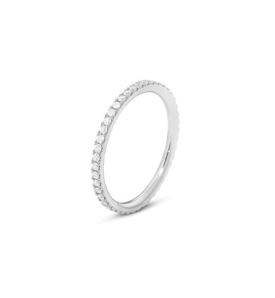 AURORA ring - 18 kt. hvidguld med brillantslebne diamanter