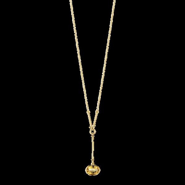 SAVANNAH vedhæng - 18 kt. guld med citrin