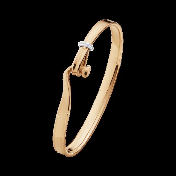 TORUN armring - 18 kt. rosa guld med brilliantslebne diamanter