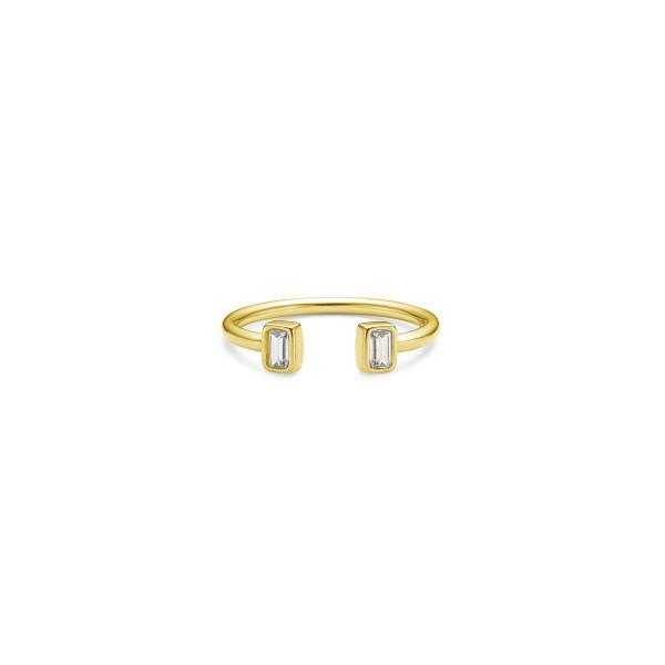 Baguette Open Ring - Gold