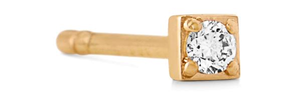 Rock square diamant ørestik 0,0125ct