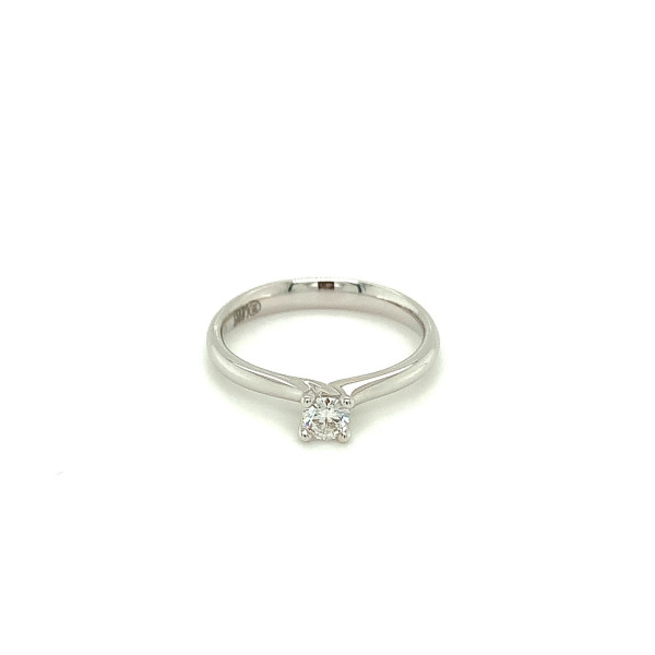 Solitaire ring 0,21ct RIVER/SI