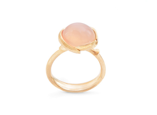 Lotus ring lille blush månesten