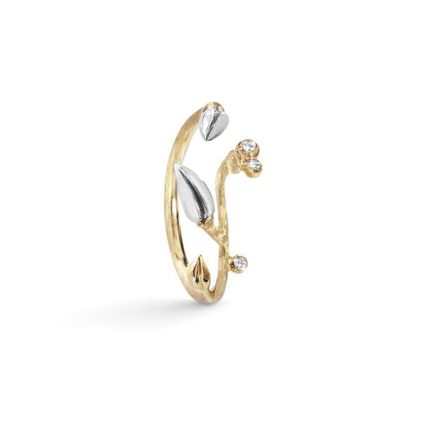 Forest ring med sølv blade