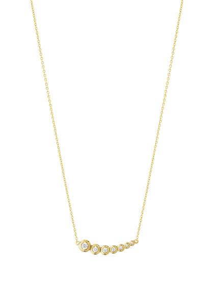 AURORA vedhæng - 18 kt. guld med brillantslebne diamanter