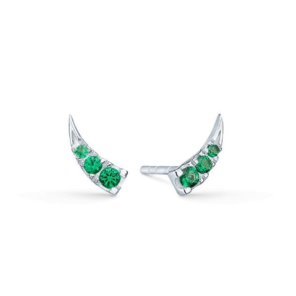 Glace øreringe - Green