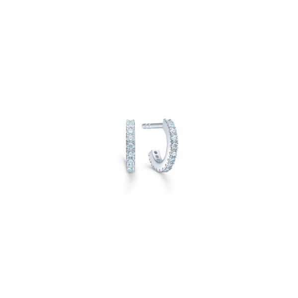Simplicity Mini Hoops - Rhodium/White