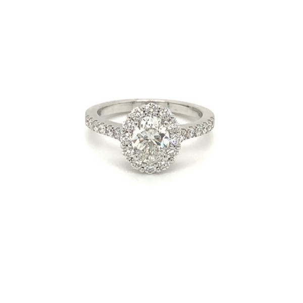 Rosetring med oval 1.00ct TW/SI diamant