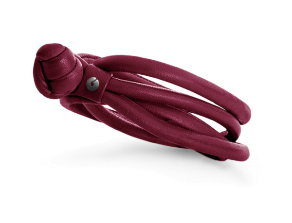 Design armbånd læder vinrød
