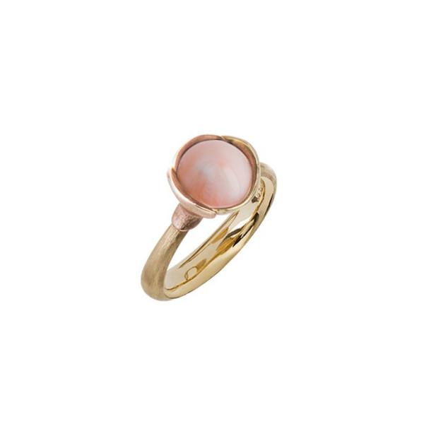 Lotus ring med rosa koral