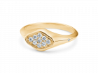 Rock signet ring 0,138ct