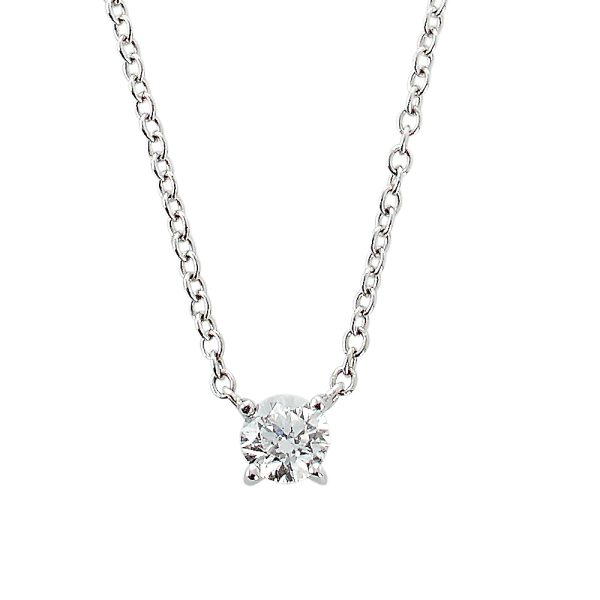 Kæde m/diamant 0,40ct TW/SI