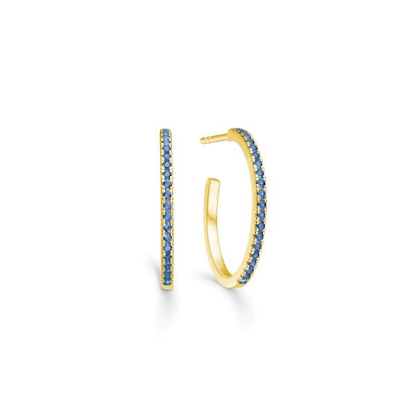 Simplicity Hoops - Gold/Blue