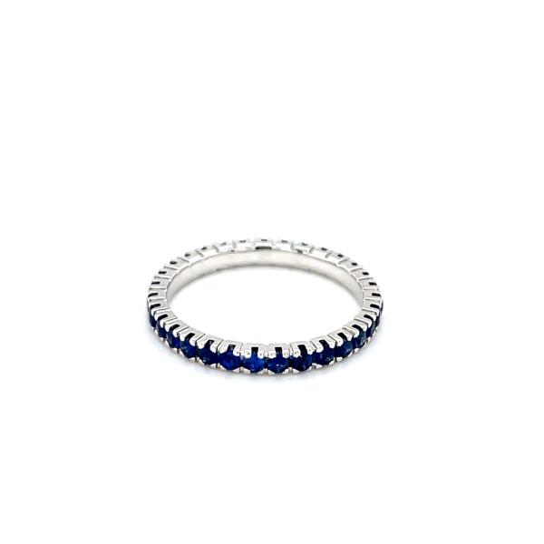 Alliancering blå safirer 0,84ct