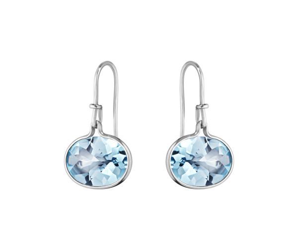 SAVANNAH øreringe - sterlingsølv med blå topas