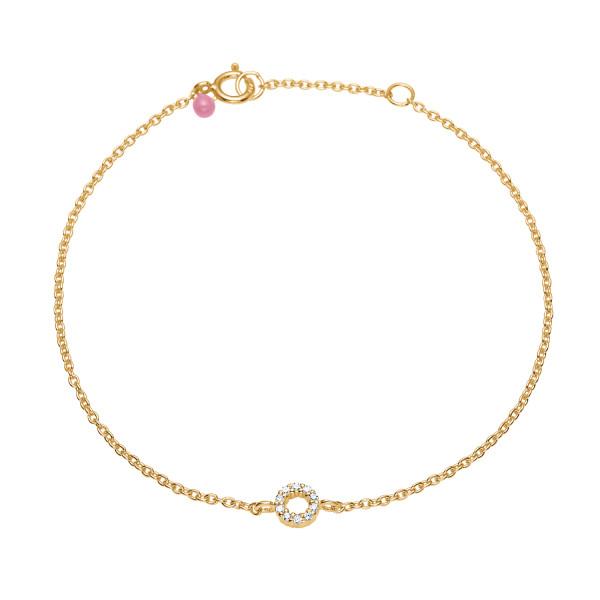 Bracelet, sweetheart, CZ