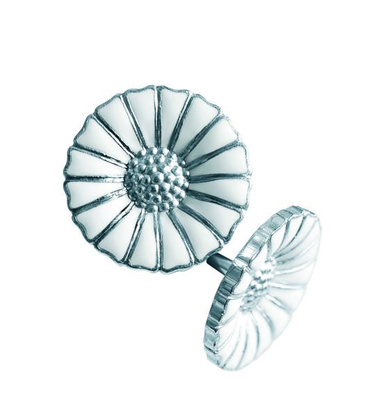 DAISY øreringe - rhodineret sterlingsølv med emalje