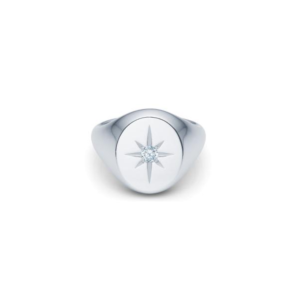 Guiding Star Ring - Rhodium