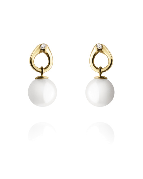 MAGIC øreringe - 18 kt. guld med perler og diamanter
