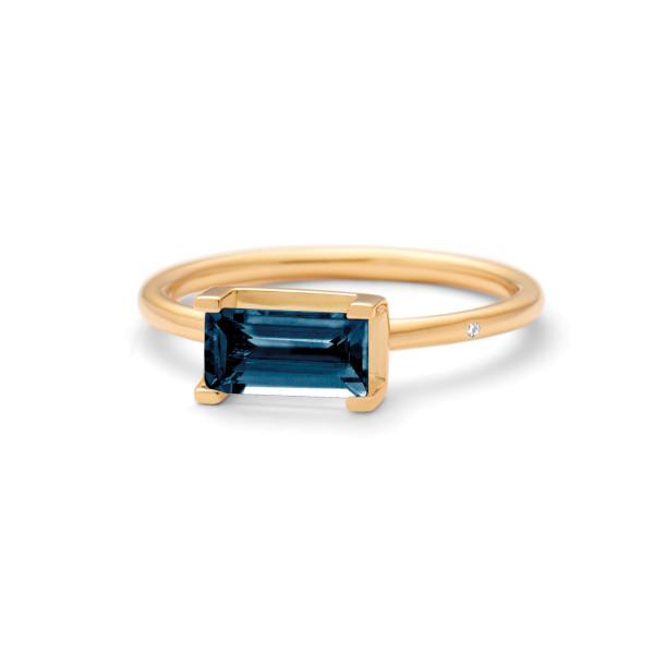 Lord London blue ring 0,90ct baguettesleben London blue topas