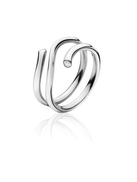 MAGIC ring - 18 kt. hvidguld med 0.04 ct brillanter