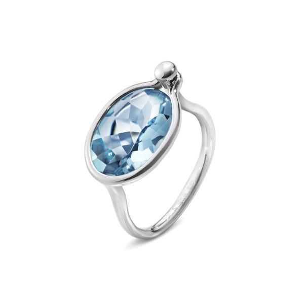 SAVANNAH ring - sterlingsølv med blå topas, mellem