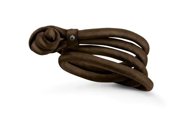 Design armbånd silke chokolade brun