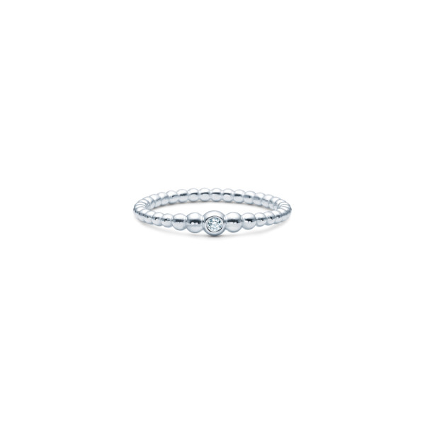 Bubbly Ring - Rhodium