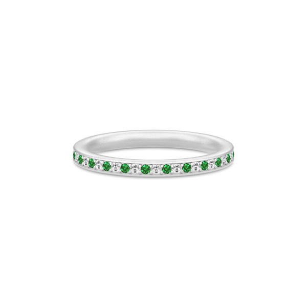 Infinity Ring Rhodium white/green