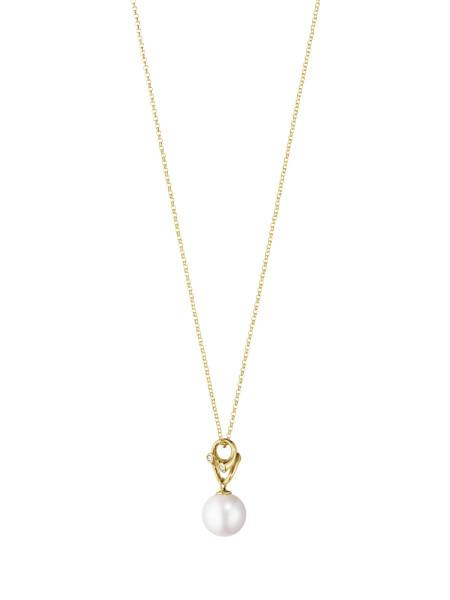 MAGIC vedhæng - 18 kt. guld med perle og diamanter