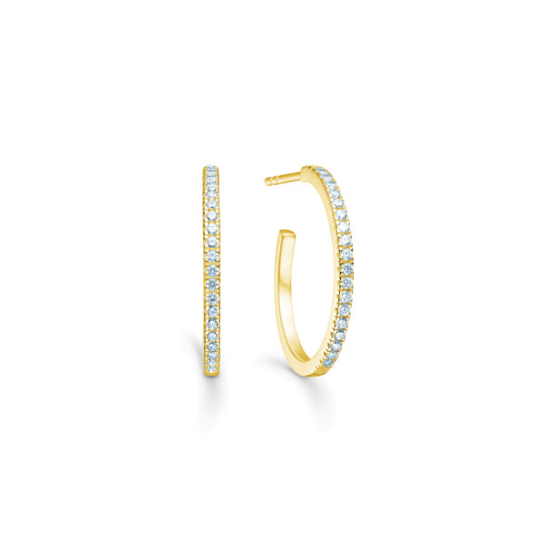 Simplicity Hoops - Gold/White