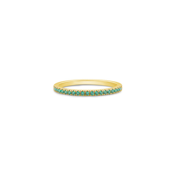 Simplicity Ring - Gold/Green