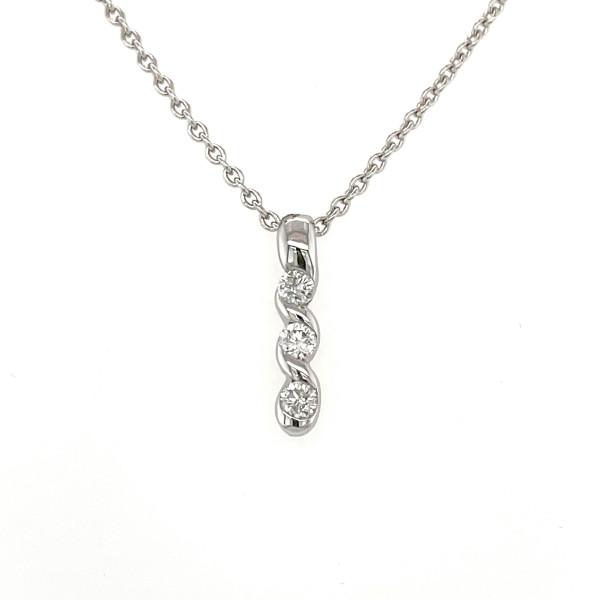 Diamant vedhæng 14kt hvidguld 0,30ct
