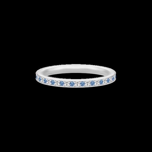 Infinity Ring Rhodium white/blue