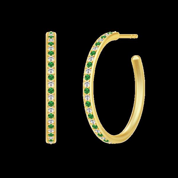 Infinity Medium Hoops - Gold/Green